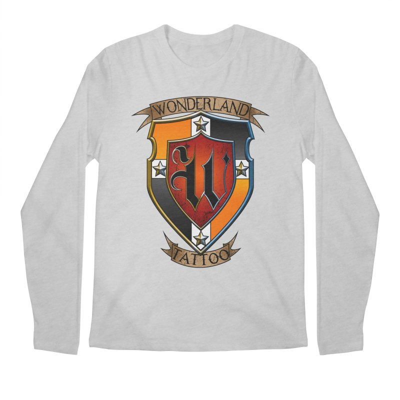 Wonderland Tattoo color shield Men's Longsleeve T-Shirt by Wonderland Tattoo Studio's Artist Shop