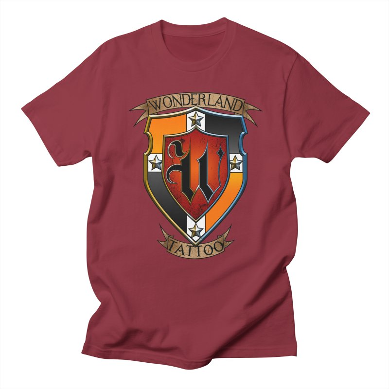 Wonderland Tattoo color shield Women's Regular Unisex T-Shirt by Wonderland Tattoo Studio's Artist Shop