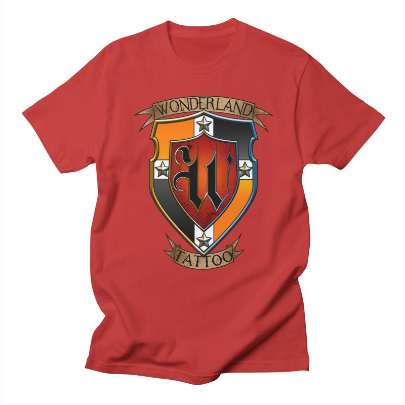 Wonderland Tattoo color shield Men's T-Shirt by Wonderland Tattoo Studio's Artist Shop