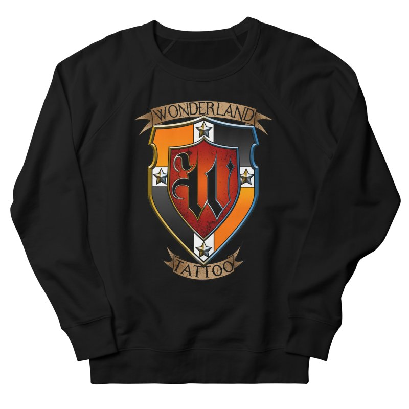 Wonderland Tattoo color shield Women's French Terry Sweatshirt by Wonderland Tattoo Studio's Artist Shop