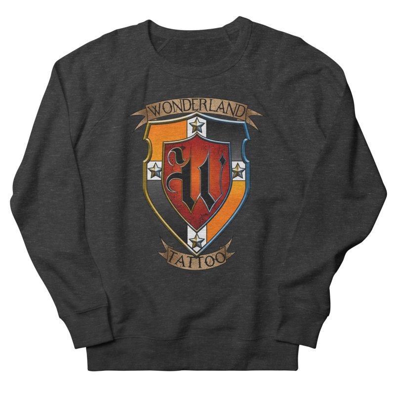 Wonderland Tattoo color shield Men's French Terry Sweatshirt by Wonderland Tattoo Studio's Artist Shop