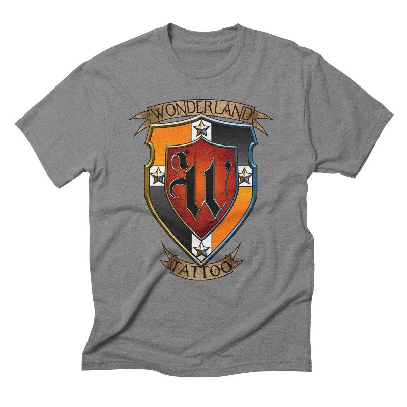 Wonderland Tattoo color shield Men's Triblend T-Shirt by Wonderland Tattoo Studio's Artist Shop