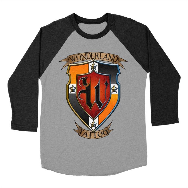 Wonderland Tattoo color shield Women's Baseball Triblend Longsleeve T-Shirt by Wonderland Tattoo Studio's Artist Shop