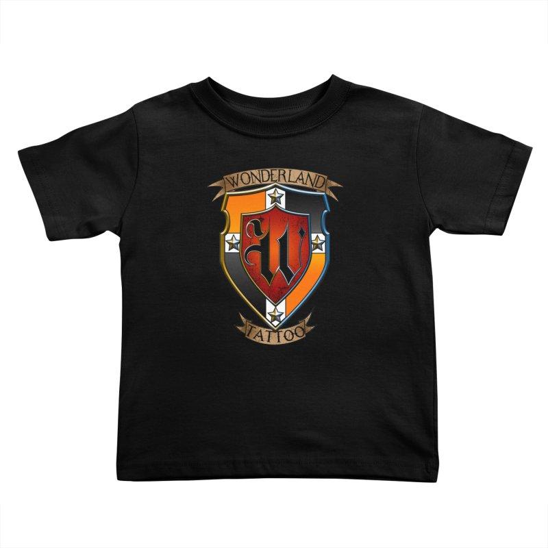 Wonderland Tattoo color shield Kids Toddler T-Shirt by Wonderland Tattoo Studio's Artist Shop