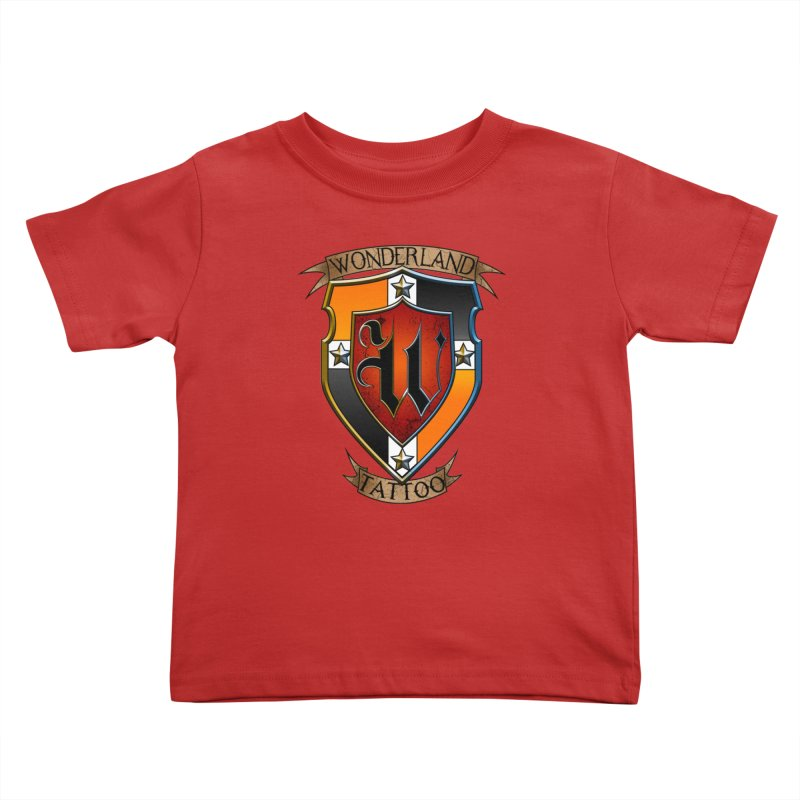 Wonderland Tattoo color shield Kids Toddler T-Shirt by Wonderland Tattoo Studio's Artist Shop