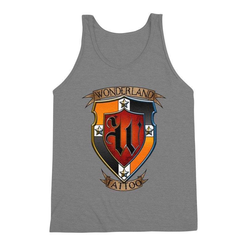 Wonderland Tattoo color shield Men's Triblend Tank by Wonderland Tattoo Studio's Artist Shop