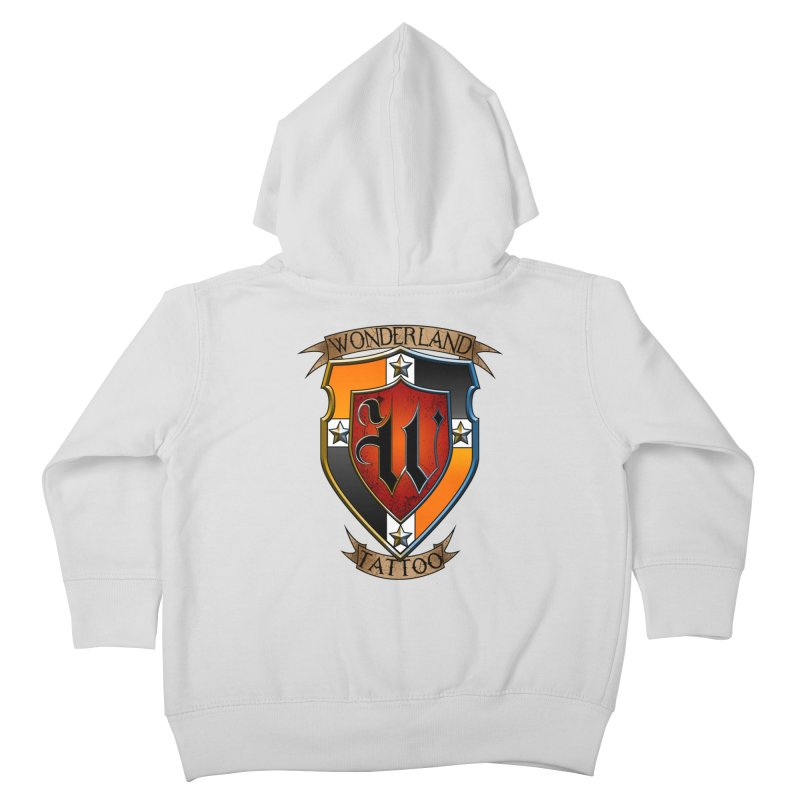 Wonderland Tattoo color shield Kids Toddler Zip-Up Hoody by Wonderland Tattoo Studio's Artist Shop