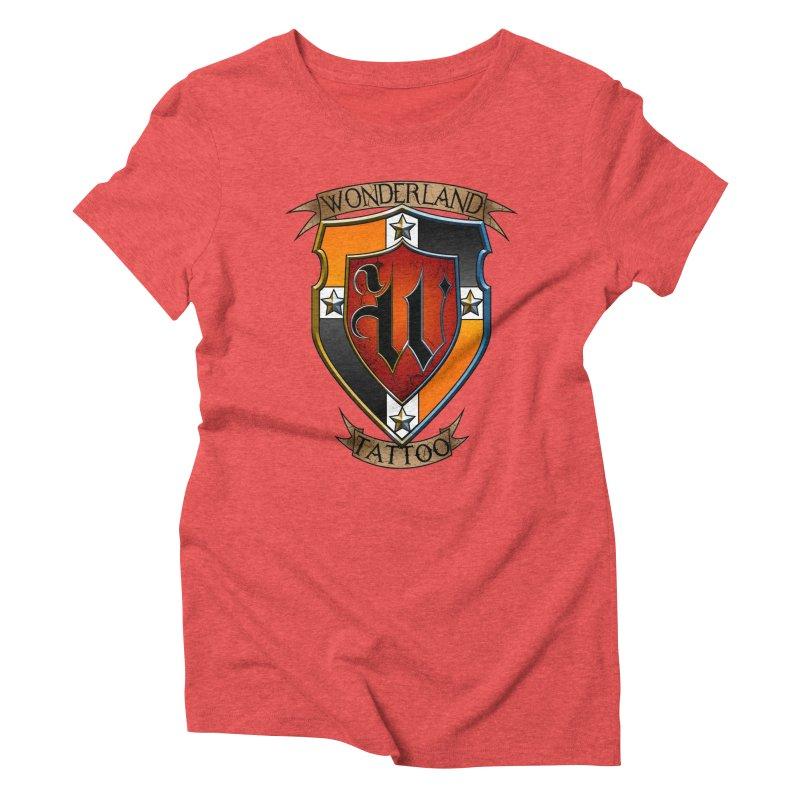 Wonderland Tattoo color shield Women's Triblend T-Shirt by Wonderland Tattoo Studio's Artist Shop