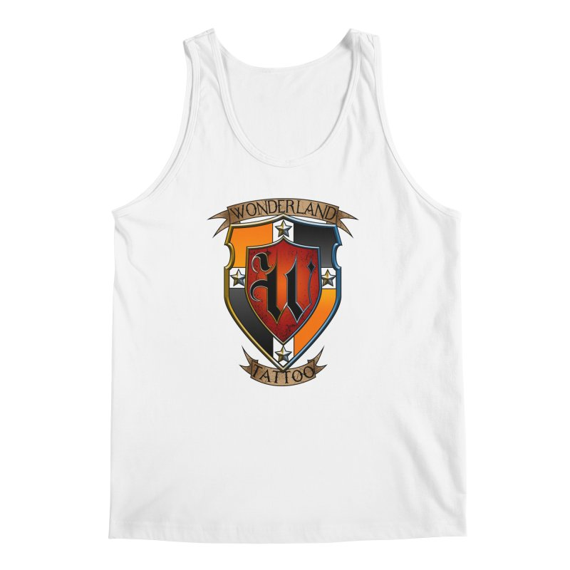 Wonderland Tattoo color shield Men's Regular Tank by Wonderland Tattoo Studio's Artist Shop