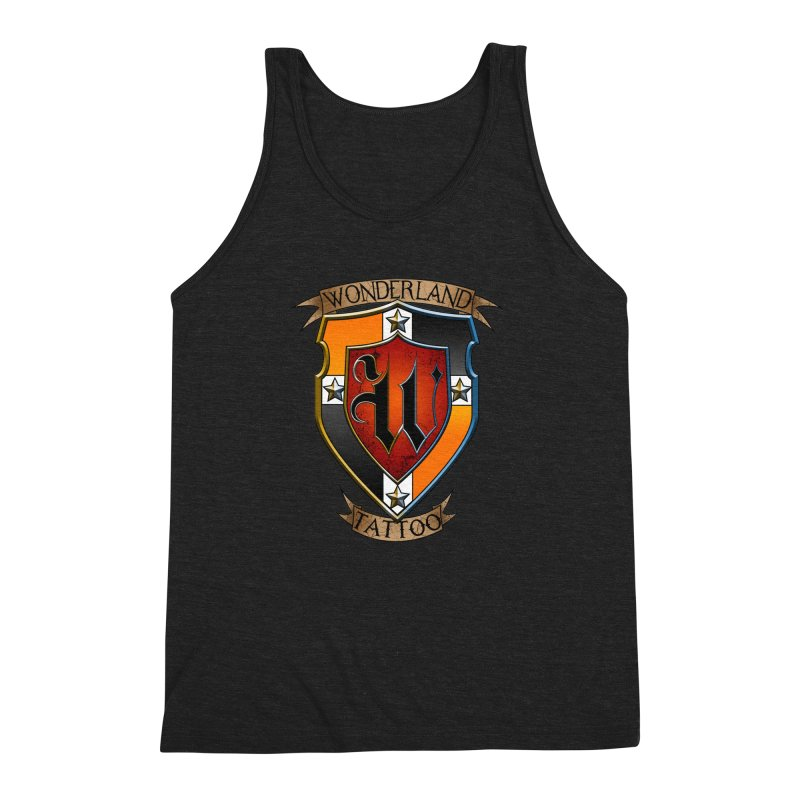 Wonderland Tattoo color shield Men's Triblend Tank by Wonderland Tattoo Studio's Artist Shop