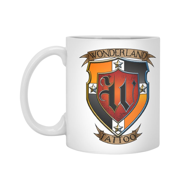 Wonderland Tattoo color shield Accessories Standard Mug by Wonderland Tattoo Studio's Artist Shop