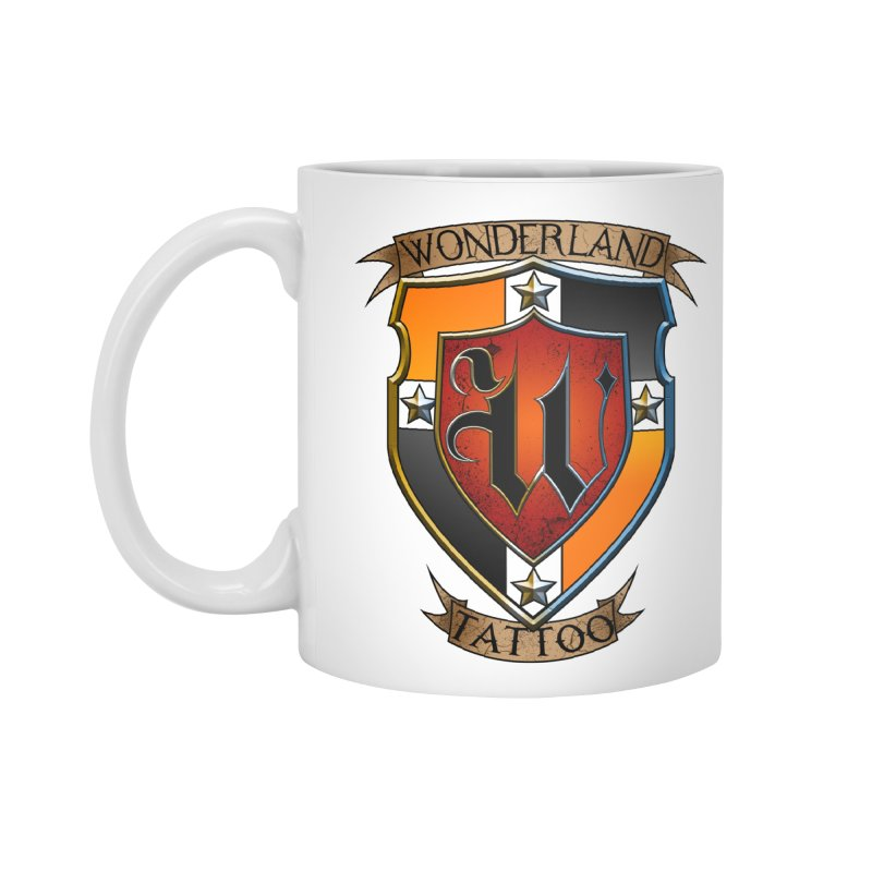 Wonderland Tattoo color shield Accessories Mug by Wonderland Tattoo Studio's Artist Shop