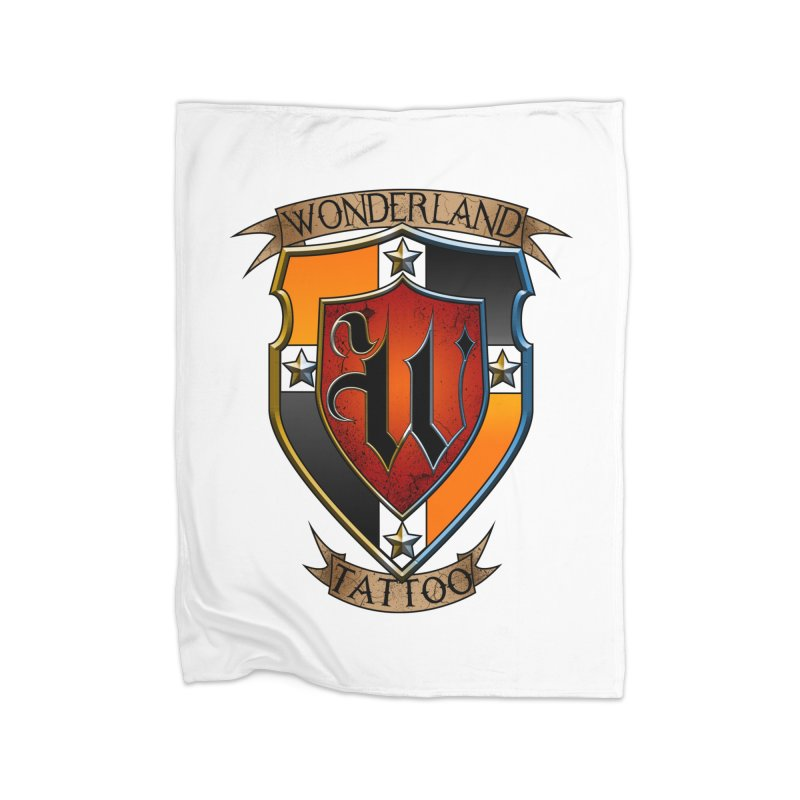Wonderland Tattoo color shield Home Fleece Blanket Blanket by Wonderland Tattoo Studio's Artist Shop