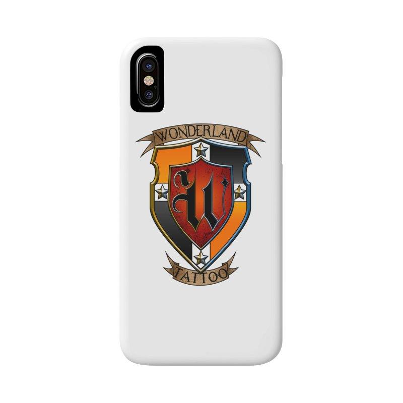 Wonderland Tattoo color shield Accessories Phone Case by Wonderland Tattoo Studio's Artist Shop