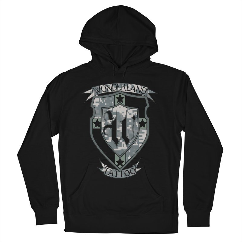 Digi Camo shield Men's Pullover Hoody by Wonderland Tattoo Studio's Artist Shop
