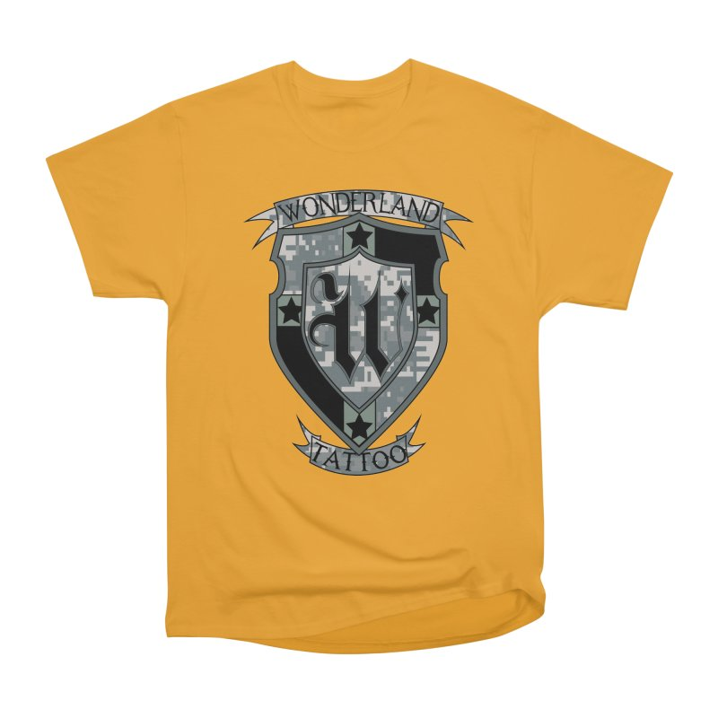 Digi Camo shield Women's Classic Unisex T-Shirt by Wonderland Tattoo Studio's Artist Shop