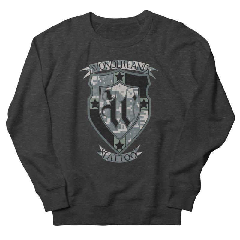 Digi Camo shield Women's Sweatshirt by Wonderland Tattoo Studio's Artist Shop