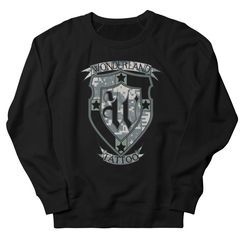 Digi Camo shield Women's French Terry Sweatshirt by Wonderland Tattoo Studio's Artist Shop