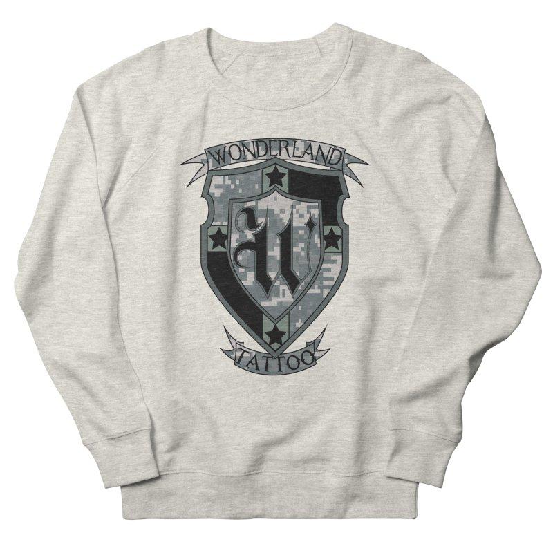 Digi Camo shield Women's French Terry Sweatshirt by Wonderland Tattoo Studio's Artist Shop