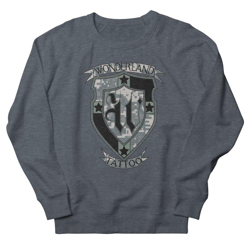 Digi Camo shield Men's Sweatshirt by Wonderland Tattoo Studio's Artist Shop
