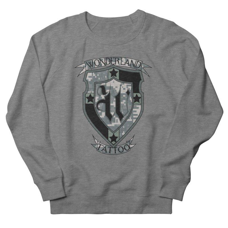 Digi Camo shield Men's French Terry Sweatshirt by Wonderland Tattoo Studio's Artist Shop