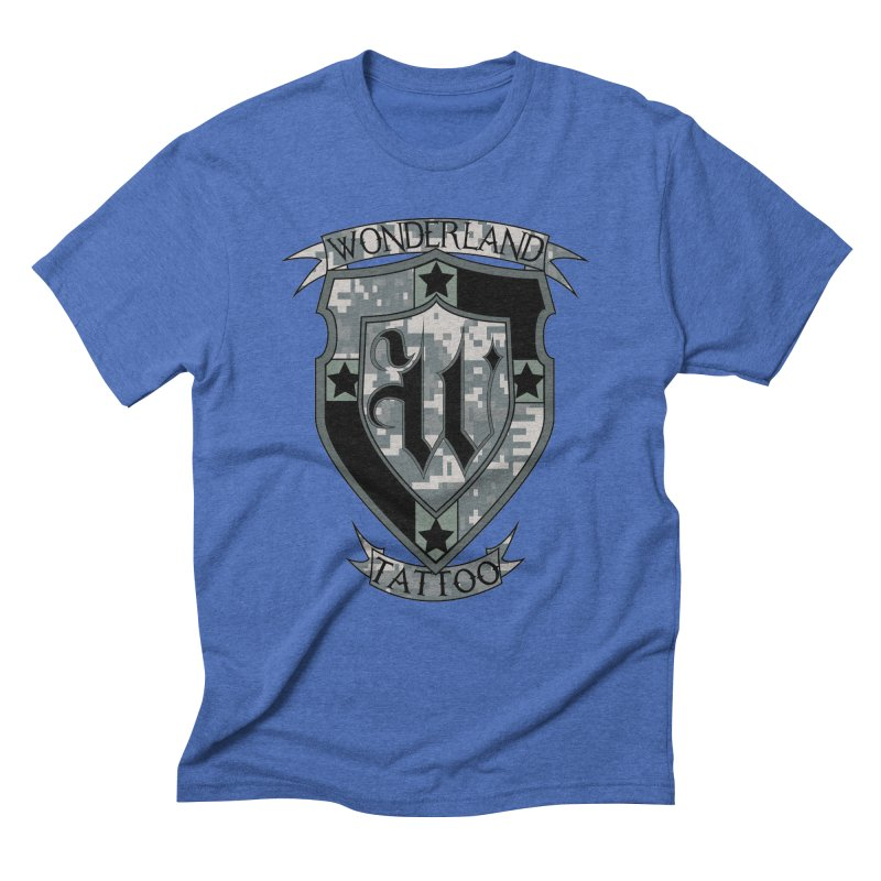 Digi Camo shield Men's T-Shirt by Wonderland Tattoo Studio's Artist Shop