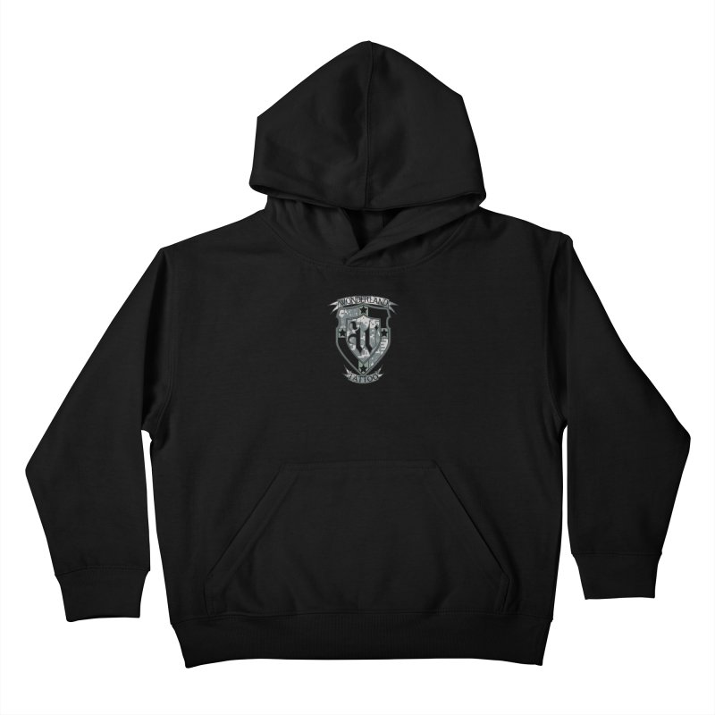 Digi Camo shield Kids Pullover Hoody by Wonderland Tattoo Studio's Artist Shop