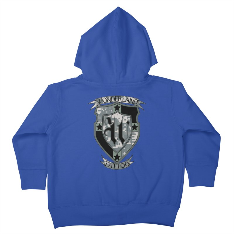 Digi Camo shield Kids Toddler Zip-Up Hoody by Wonderland Tattoo Studio's Artist Shop