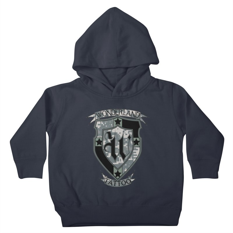 Digi Camo shield Kids Toddler Pullover Hoody by Wonderland Tattoo Studio's Artist Shop