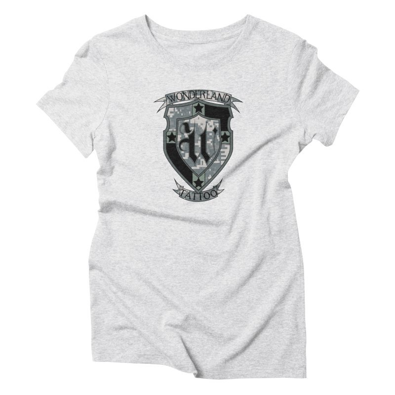 Digi Camo shield Women's T-Shirt by Wonderland Tattoo Studio's Artist Shop