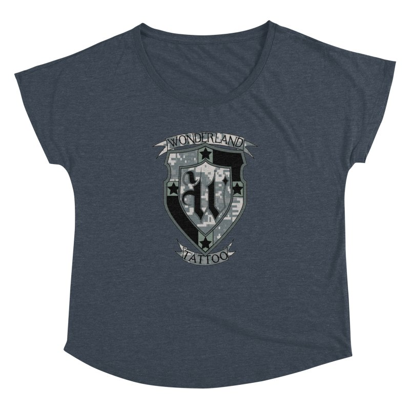 Digi Camo shield Women's Dolman by Wonderland Tattoo Studio's Artist Shop
