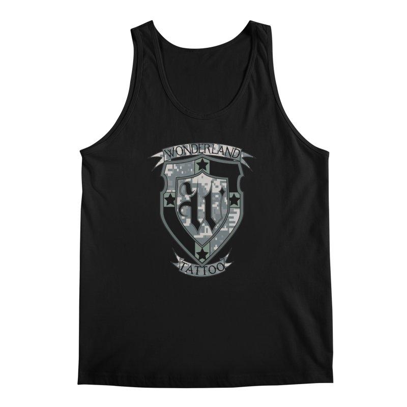 Digi Camo shield Men's Tank by Wonderland Tattoo Studio's Artist Shop