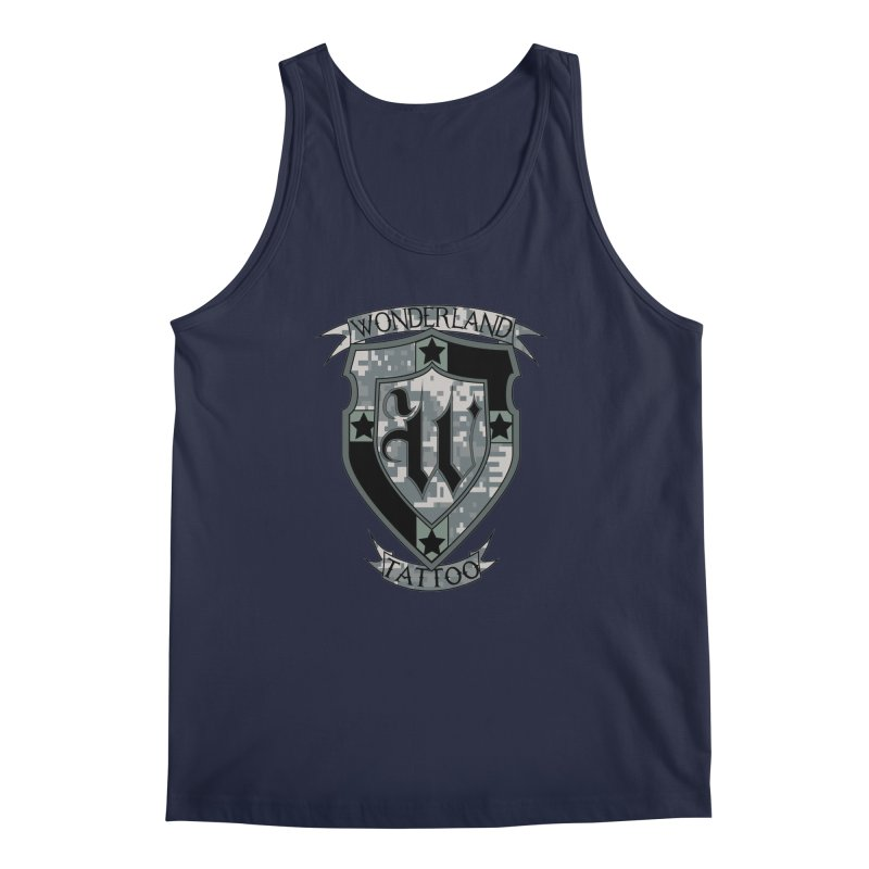 Digi Camo shield Men's Regular Tank by Wonderland Tattoo Studio's Artist Shop