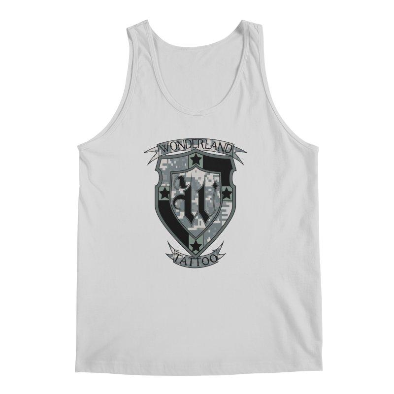 Digi Camo shield Men's Regular Tank by Wonderland Tattoo Studio's Artist Shop