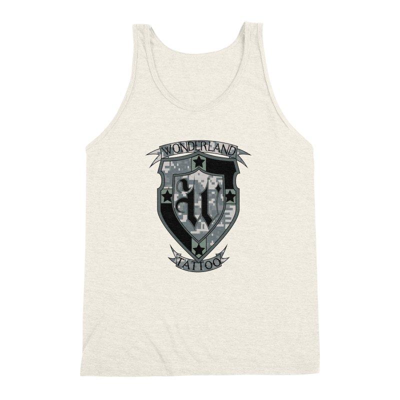 Digi Camo shield Men's Triblend Tank by Wonderland Tattoo Studio's Artist Shop