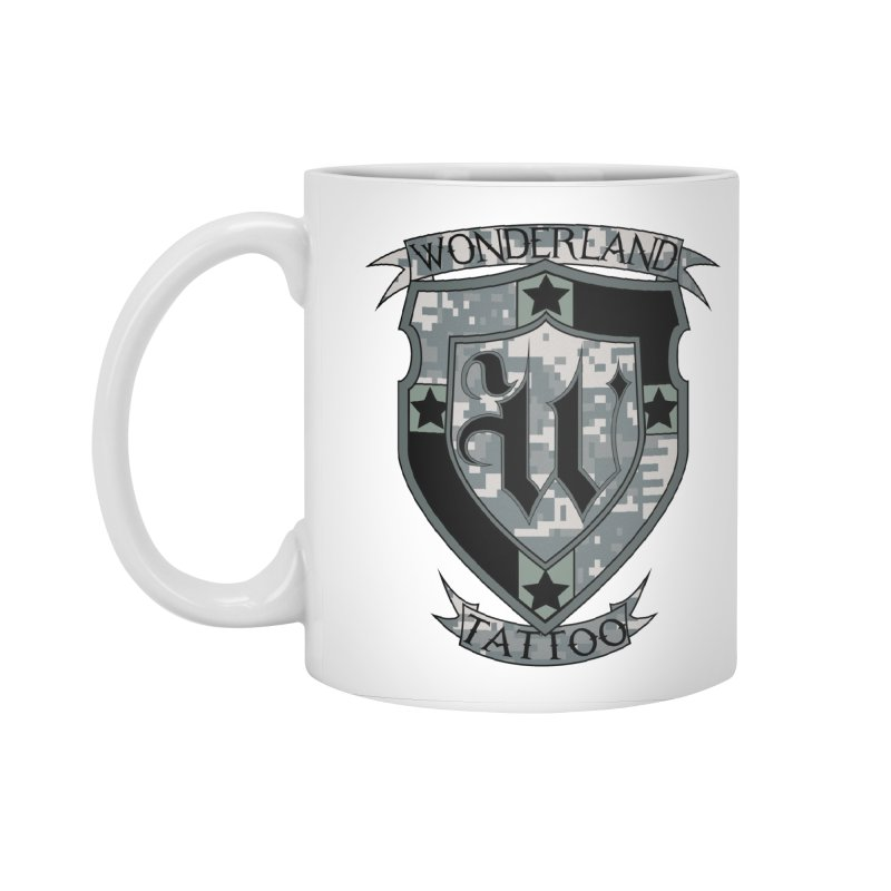 Digi Camo shield Accessories Standard Mug by Wonderland Tattoo Studio's Artist Shop