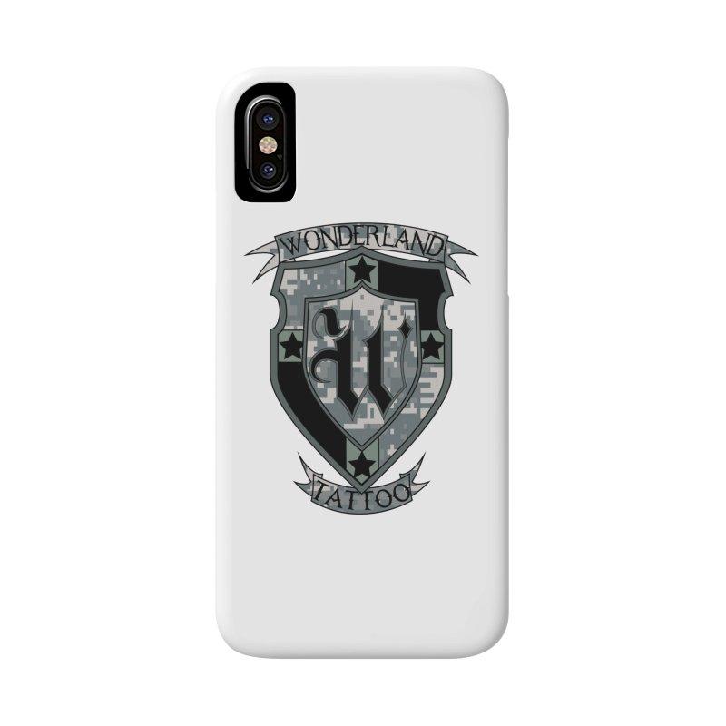 Digi Camo shield Accessories Phone Case by Wonderland Tattoo Studio's Artist Shop