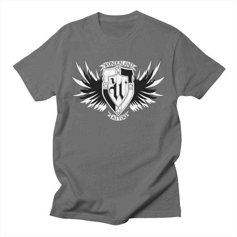Winged Shield Men's T-Shirt by Wonderland Tattoo Studio's Artist Shop