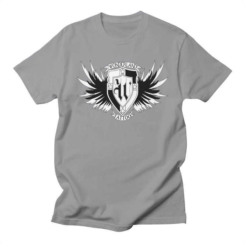 Winged Shield Men's Regular T-Shirt by Wonderland Tattoo Studio's Artist Shop