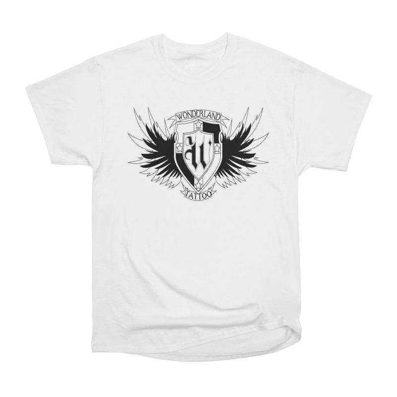 Winged Shield Men's Heavyweight T-Shirt by Wonderland Tattoo Studio's Artist Shop