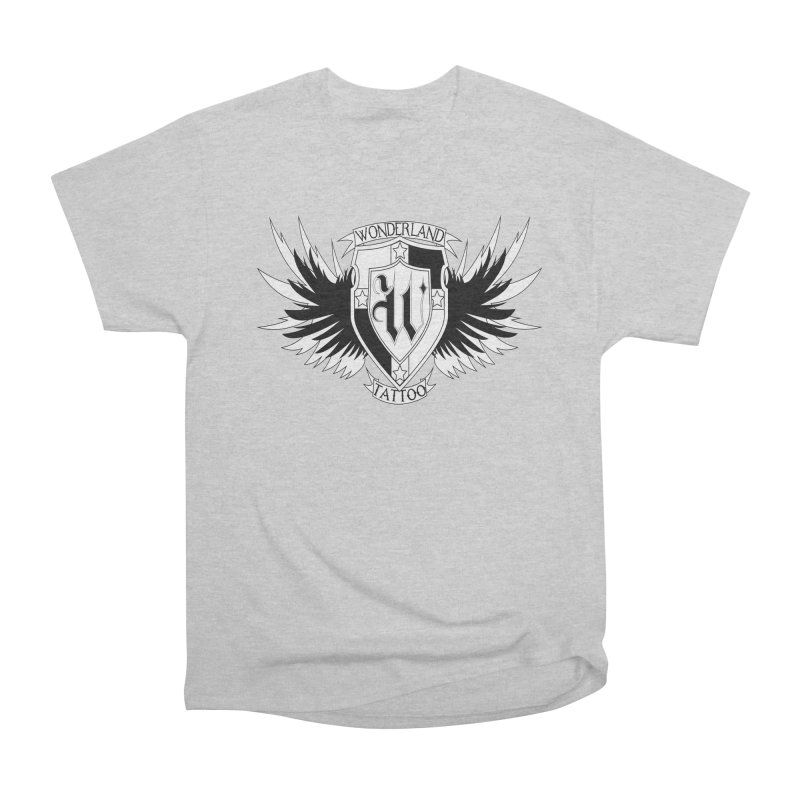 Winged Shield Men's Heavyweight T-Shirt by Wonderland Tattoo Studio's Artist Shop