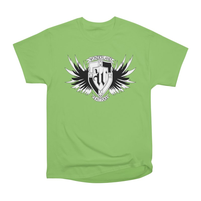 Winged Shield Women's Heavyweight Unisex T-Shirt by Wonderland Tattoo Studio's Artist Shop