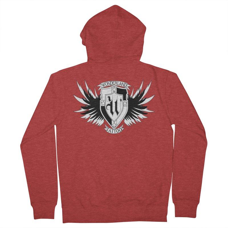 Winged Shield Men's Zip-Up Hoody by Wonderland Tattoo Studio's Artist Shop