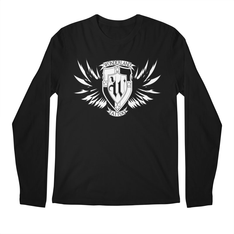 Winged Shield Men's Regular Longsleeve T-Shirt by Wonderland Tattoo Studio's Artist Shop