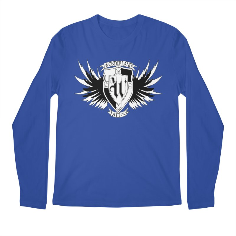 Winged Shield Men's Regular Longsleeve T-Shirt by Wonderland Tattoo Studio's Artist Shop