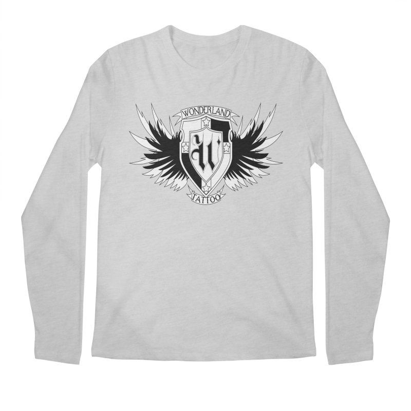 Winged Shield Men's Longsleeve T-Shirt by Wonderland Tattoo Studio's Artist Shop