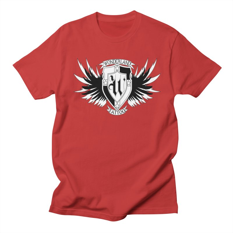 Winged Shield Men's Regular T-Shirt by Wonderland Tattoo Studio's Artist Shop