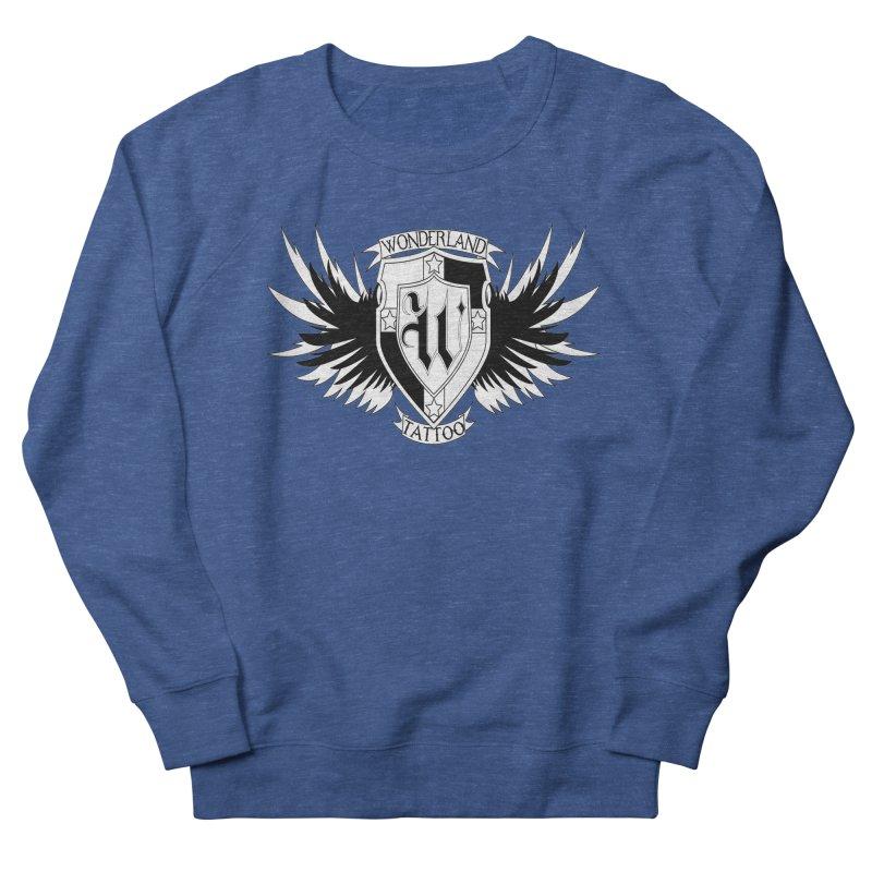 Winged Shield Women's French Terry Sweatshirt by Wonderland Tattoo Studio's Artist Shop