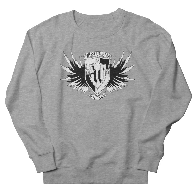 Winged Shield Women's French Terry Sweatshirt by Wonderland Tattoo Studio's Artist Shop