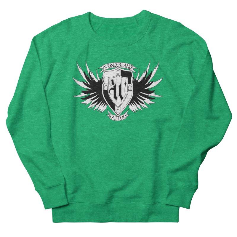 Winged Shield Men's French Terry Sweatshirt by Wonderland Tattoo Studio's Artist Shop